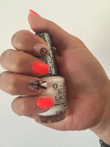 ongles orange